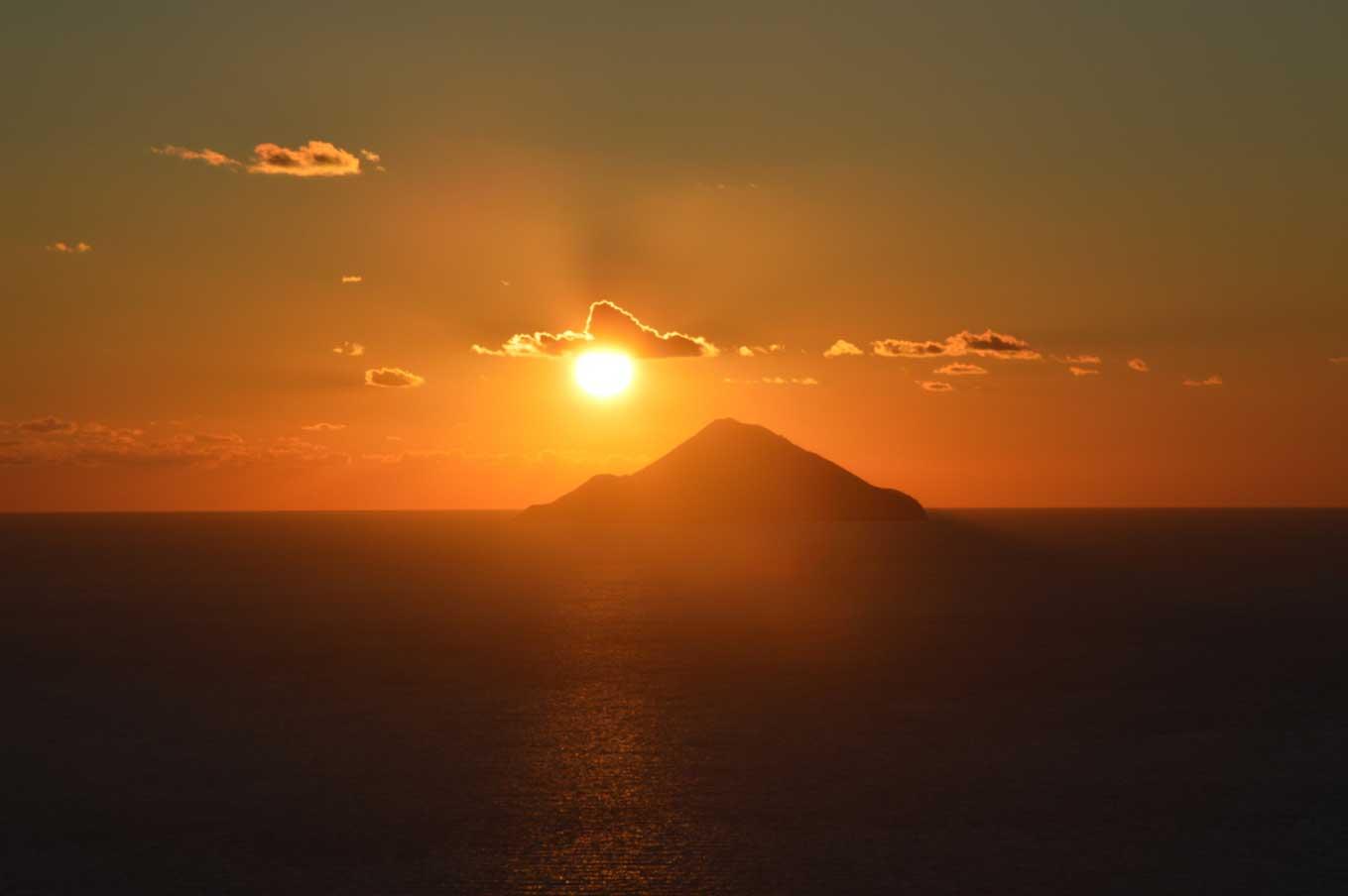 Seaside panorama of Lipari. Largest island of the Aeolian Islands archipelago.