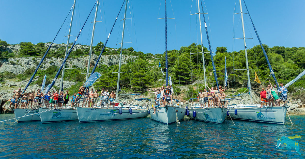 A flotilla is the best way to enjoy a sailing trip.