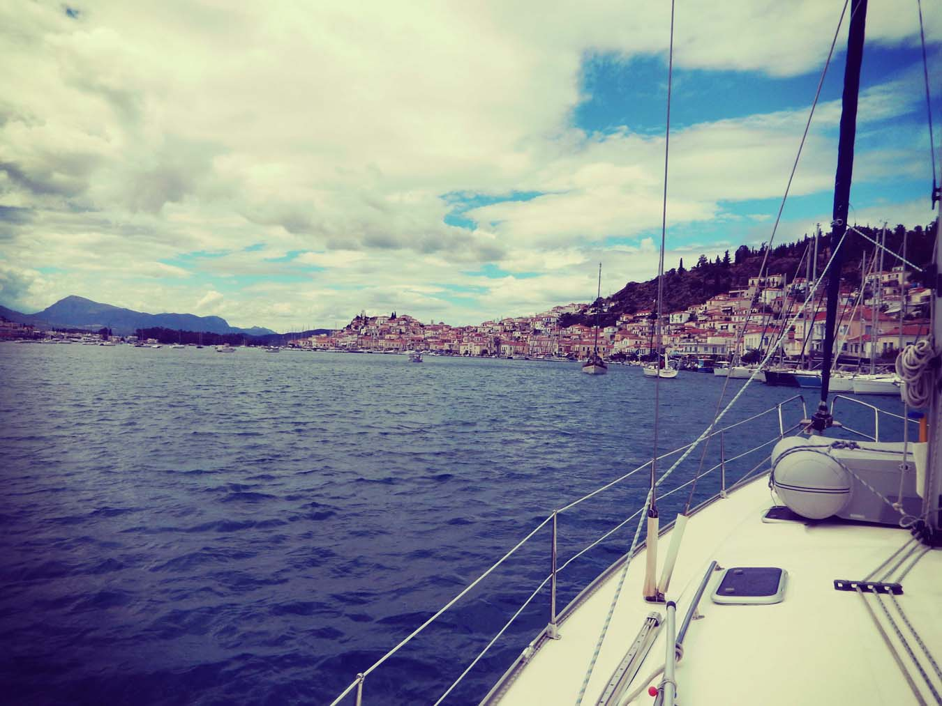 Sailing in Greece. Marina of Poros.