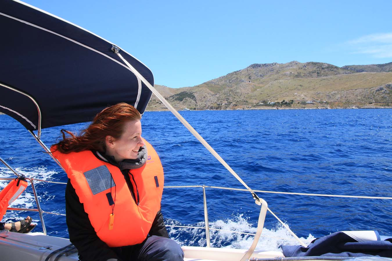 Sailing in Greece. Out of the Storm