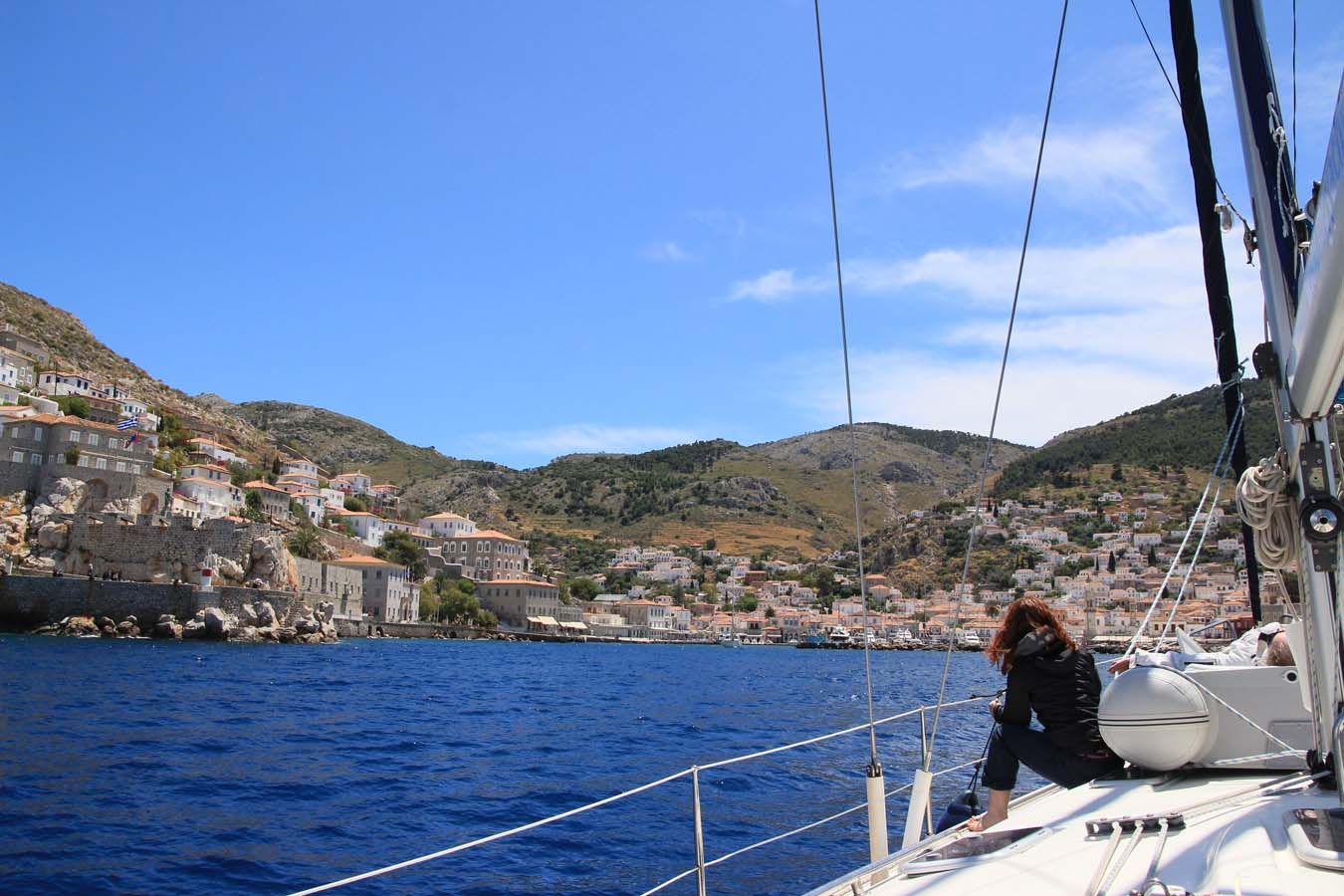 Sailing in Greece. Into Hydra