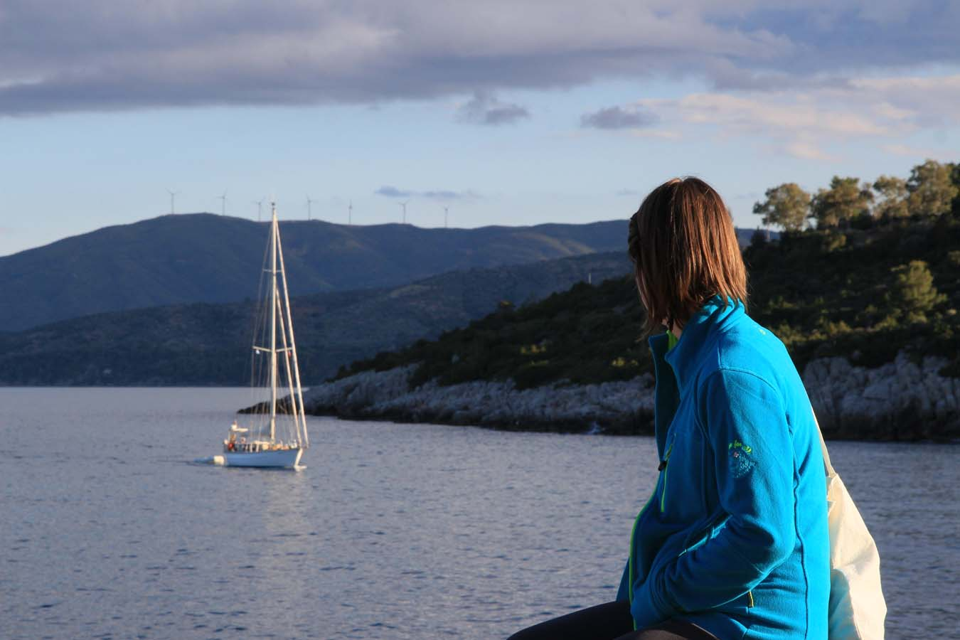 Sailing in Greece. Methana Entrance.