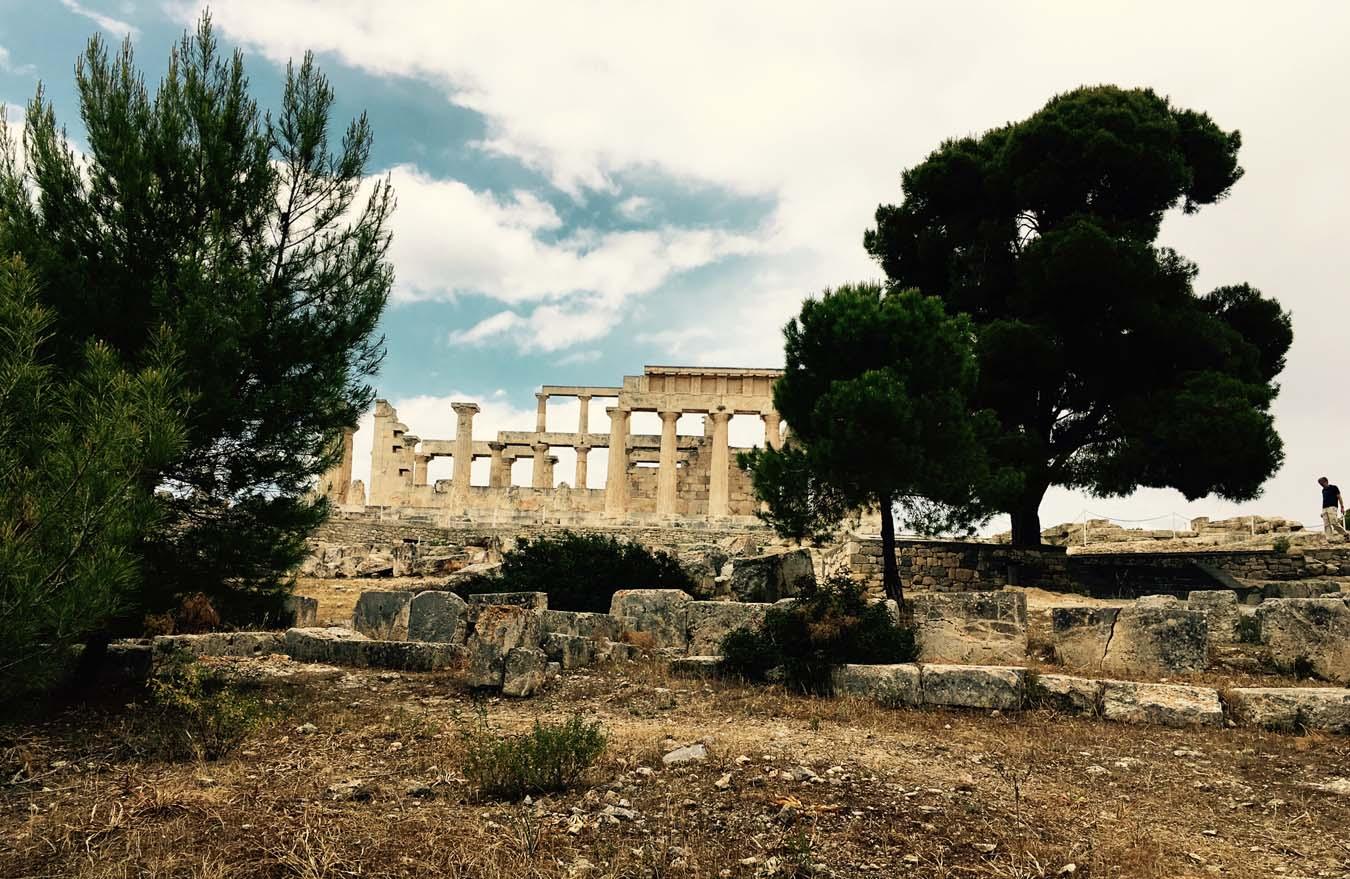Sailing in Greece. Aegina, Aphaea Temple.