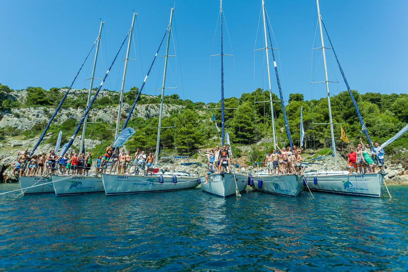 Flotilla Sailing Holiday with Naleians in 2014
