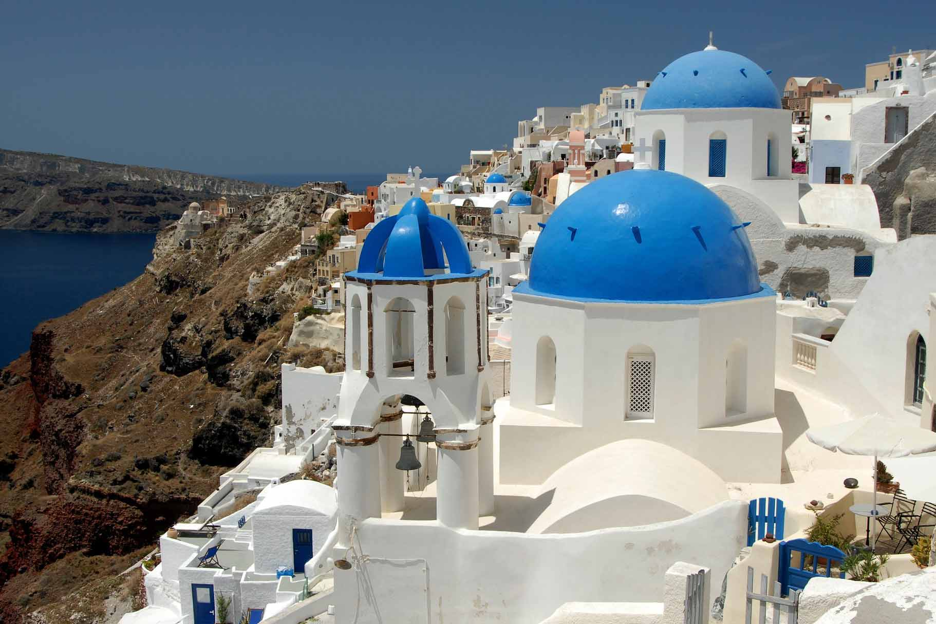 Island of Santorini, blue and white houses, Cultural Differences