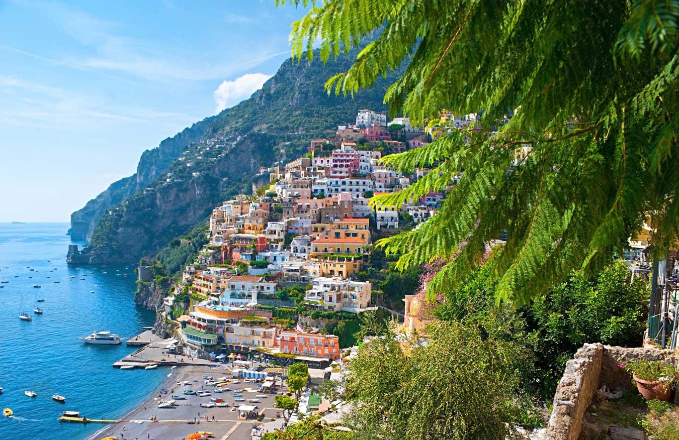 Overlooking Positano Town, Italy.