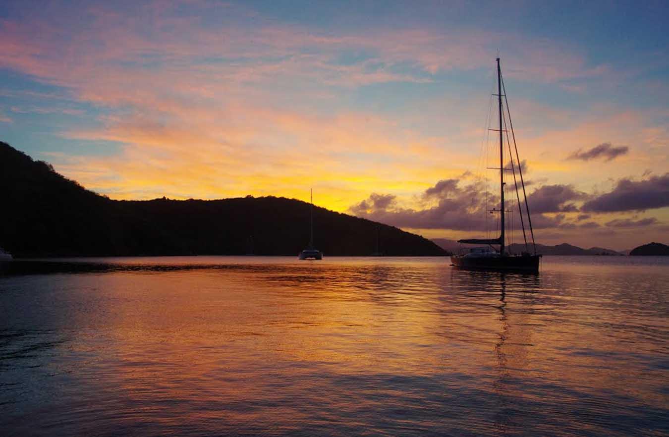 Flotilla Sailing In The British Virgin Islands