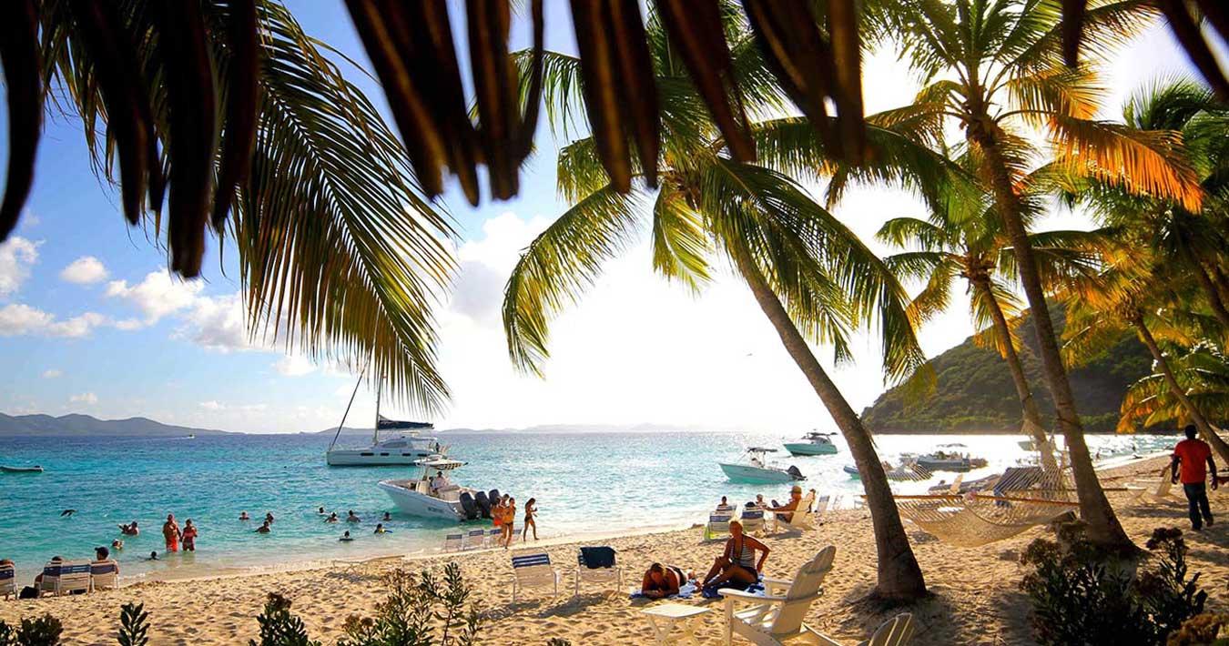 Anchored at White Bay, Jost Van Dyke Island, Sailing Holidays in the Caribbean