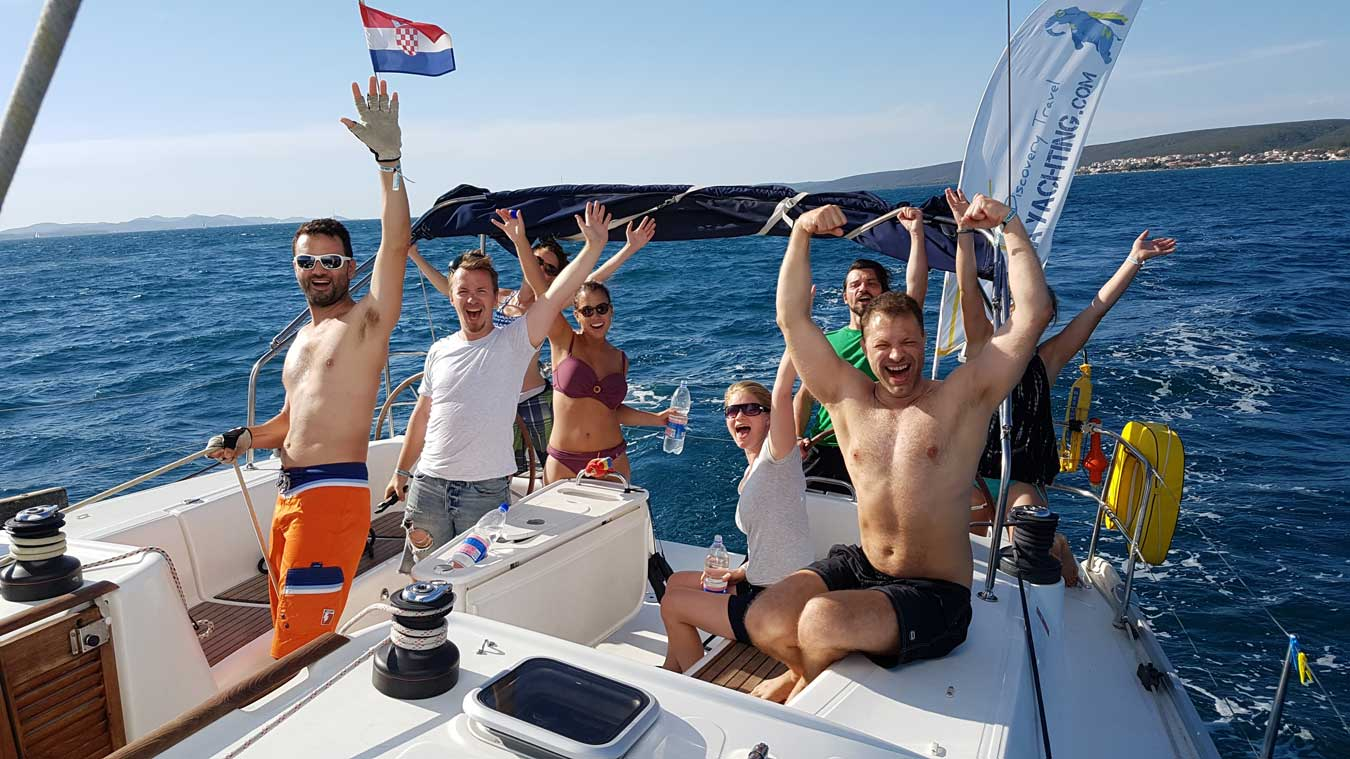 The winning crew of sailing regattas.