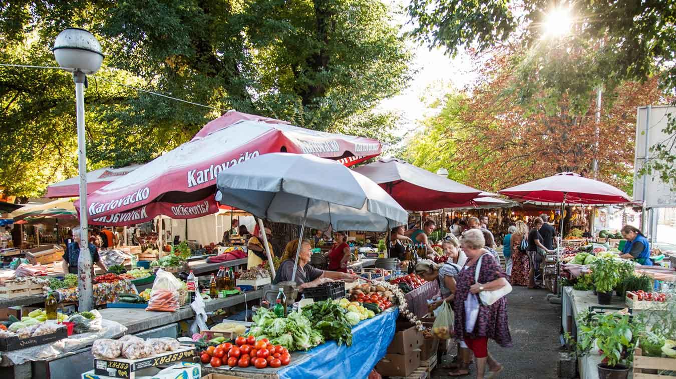 Local vegetable market.
